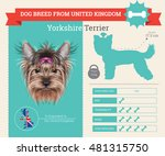 yorkshire terrier dog breed... | Shutterstock .eps vector #481315750