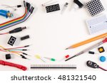 diy robot engineer electronic... | Shutterstock . vector #481321540