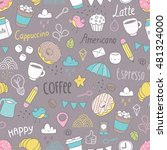 seamless pattern with cute... | Shutterstock .eps vector #481324000