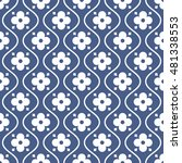 seamless ornamental pattern... | Shutterstock .eps vector #481338553