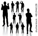vector silhouettes. different... | Shutterstock .eps vector #481346128