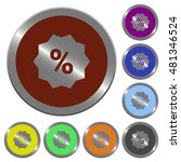 set of color glossy coin like...   Shutterstock .eps vector #481346524