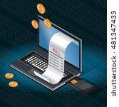 online payments  online... | Shutterstock .eps vector #481347433