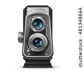 realistic vintage retro camera. ...   Shutterstock .eps vector #481348864