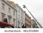 Small photo of Fire Fighters at Telescopic Boom Aerial Ladder Platform