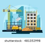 bright construction background... | Shutterstock .eps vector #481352998