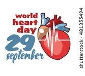 world heart day vector...   Shutterstock .eps vector #481355494