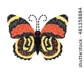 butterfly embroidery design for ... | Shutterstock .eps vector #481358884