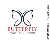 simple modern butterfly logo