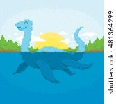 pixel art retro game style... | Shutterstock .eps vector #481364299