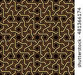 islamic star pattern  golden  ... | Shutterstock .eps vector #481366174