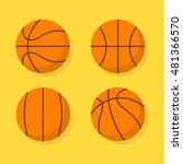 Basketball Ball Vector Set...