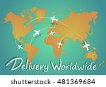 the airplanes fying between... | Shutterstock .eps vector #481369684