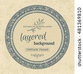vintage round grunge frame.... | Shutterstock .eps vector #481369810