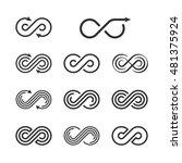 infinity logo template set.... | Shutterstock .eps vector #481375924