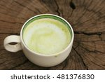 tasty hot green tea | Shutterstock . vector #481376830
