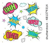 creative comic speech bubbles... | Shutterstock .eps vector #481379314