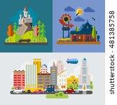 modern flat design conceptual... | Shutterstock .eps vector #481385758