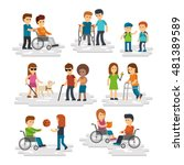 disability person vector flat.... | Shutterstock .eps vector #481389589