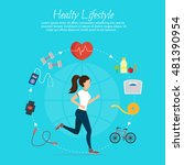 healthy lifestyle vector set... | Shutterstock .eps vector #481390954