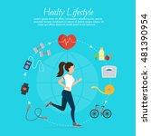 healthy lifestyle vector set... | Shutterstock .eps vector #481390954