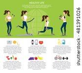 healthy lifestyle vector set... | Shutterstock .eps vector #481391026