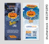 happy halloween sale banners... | Shutterstock .eps vector #481391890