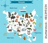 cartoon map of eurasia... | Shutterstock .eps vector #481395154