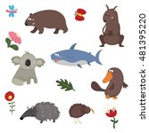 set of different animals of... | Shutterstock .eps vector #481395220