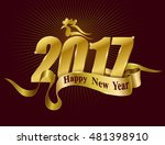 happy chinese new year 2017... | Shutterstock .eps vector #481398910