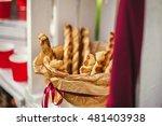 tasty breadsticks in paper... | Shutterstock . vector #481403938