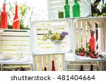 flowers in a white pot in white ... | Shutterstock . vector #481404664