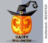 pumpkin happy halloween.   in... | Shutterstock .eps vector #481407424