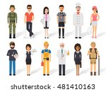 set of diverse occupation... | Shutterstock .eps vector #481410163