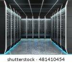 futuristic interior of server... | Shutterstock . vector #481410454