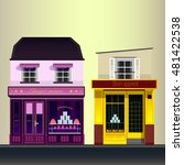street with nice shop... | Shutterstock .eps vector #481422538