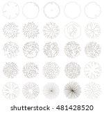 trees  top view  vector | Shutterstock .eps vector #481428520