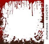 blood frame  vector | Shutterstock .eps vector #481429579