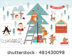 christmas  decorating christmas ... | Shutterstock .eps vector #481430098