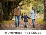 lovely family walking in the... | Shutterstock . vector #481430119