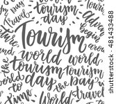 beautiful lettering for tourism ... | Shutterstock .eps vector #481433488