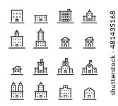 building icon set.line vector. | Shutterstock .eps vector #481435168