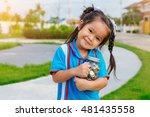 portrait of happy young little... | Shutterstock . vector #481435558