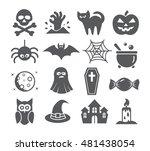 halloween icons | Shutterstock .eps vector #481438054
