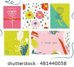 design of daily planner with... | Shutterstock .eps vector #481440058