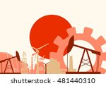 energy and power icons set with ... | Shutterstock .eps vector #481440310