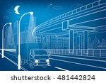 automotive flyover  truck... | Shutterstock .eps vector #481442824