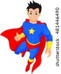 super hero boy thumb up | Shutterstock . vector #481446490