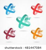 angle 360 degrees sign icon ... | Shutterstock .eps vector #481447084