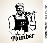 plumber and sanitary service... | Shutterstock .eps vector #481448704